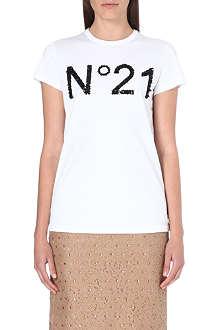 NO. 21 Sequin-detail logo t-shirt