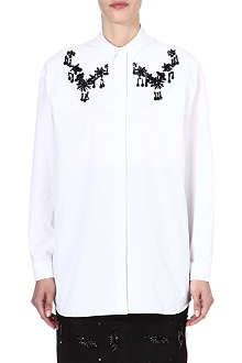 NO. 21 Embellished cotton shirt