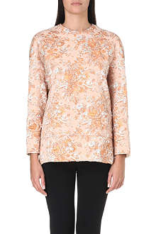 NO. 21 Floral brocade top