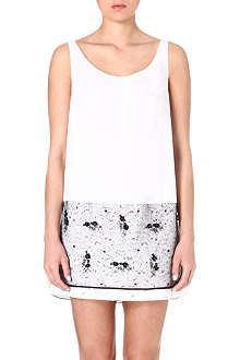 NO. 21 Embellished sleeveless top
