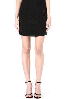 L'AGENCE Beaded mini skirt