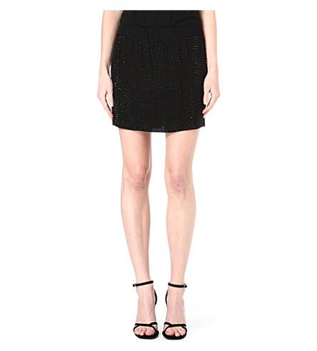L'AGENCE Beaded mini skirt (Blk / blk
