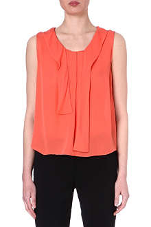 L'AGENCE Sleeveless silk top