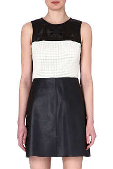 L'AGENCE Perforated leather dress
