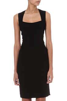 L'AGENCE Ruched crepe dress