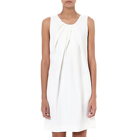 L'AGENCE Pleated crepe dress (Wht