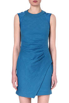 L'AGENCE Side-ruched jersey and silk dress