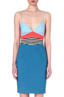 L'AGENCE Colour-blocked dress