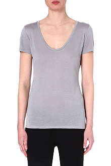 L'AGENCE Scoop-neck t-shirt