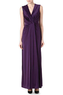 L'AGENCE Satin pleated gown