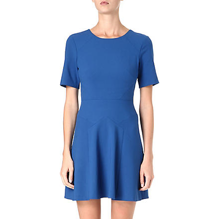 TIBI Flared crepe dress (Cobalt