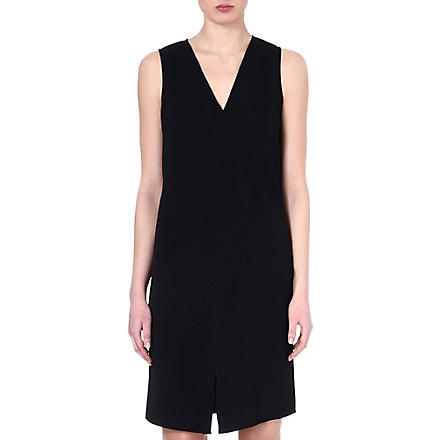 TIBI Asymmetric wrap dress (Black