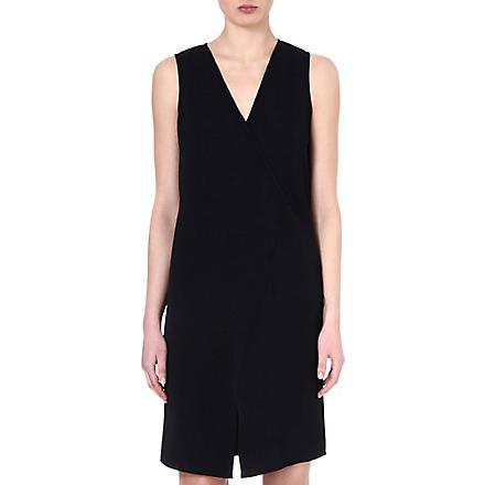 TIBI Asymmetric wrap dress (Black