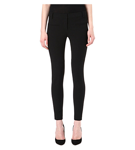 TIBI Skinny stretch-crepe trousers (Black