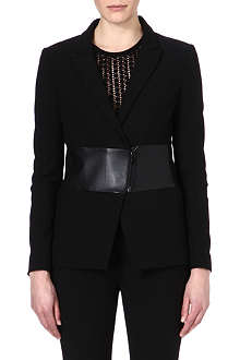 TIBI Reans leather-panel blazer
