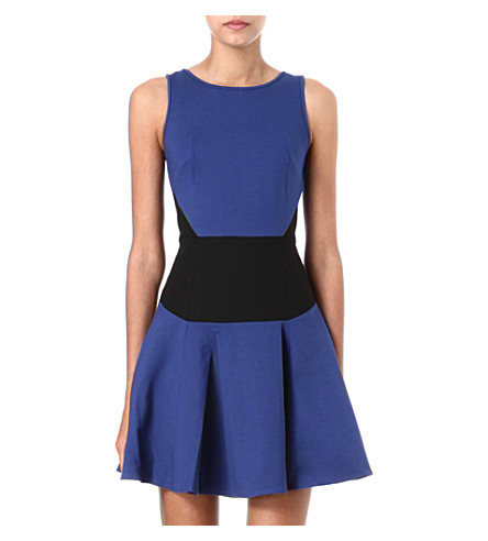 TIBI Colour-blocked dress (Sapphire/ black