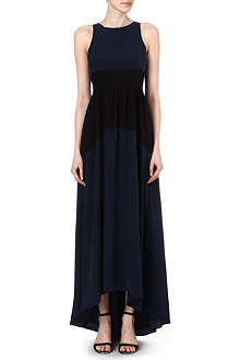 TIBI Colour-block silk maxi dress