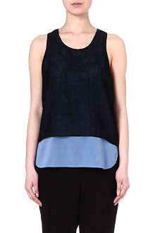 TIBI Double-layered mesh top