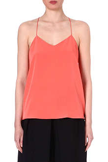 TIBI Washed silk vest top