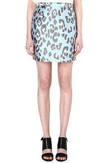 ADAM LIPPES Leopard-print mini skirt