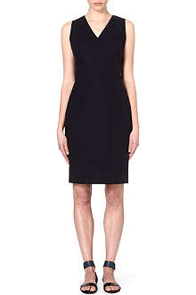 ADAM LIPPES Black cotton-blend dress