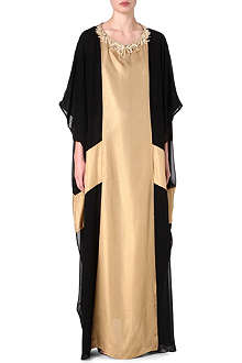 RAGHDA TARYAM Two-tone maxi dress