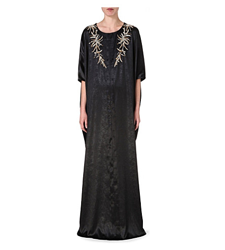 RAGHDA TARYAM Embellished maxi dress (Black