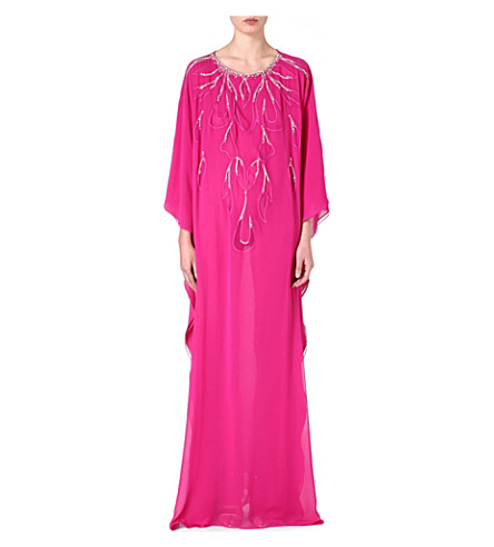 RAGHDA TARYAM Embellished maxi dress (Pink