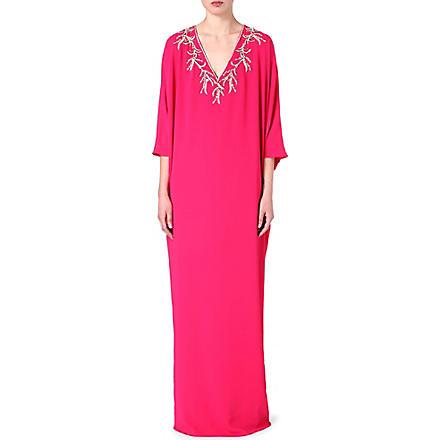 RAGHDA TARYAM Embellished maxi dress (Pink