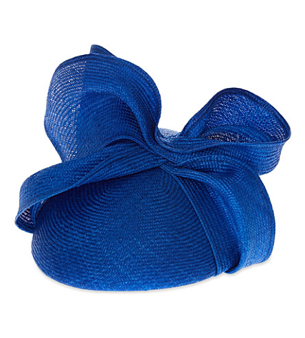 ROSIE OLIVIA Maggie twist fascinator (Royal blue
