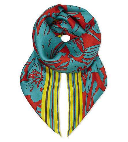 DIANE VON FURSTENBERG Leclaire silk scarf (Leclaire+bright+red