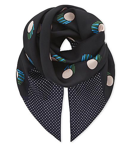 DIANE VON FURSTENBERG Casan square silk scarf (Casimir+alexander+navy