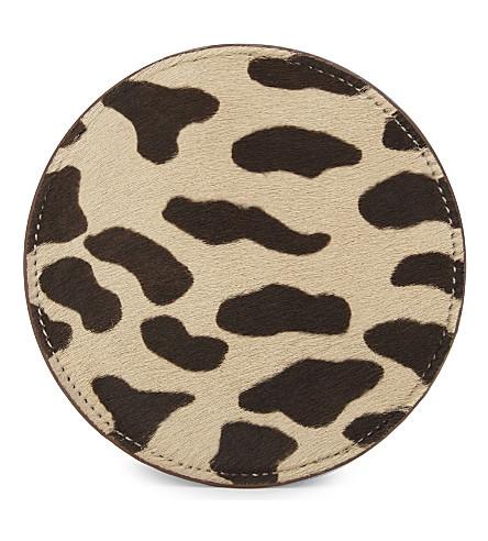 DIANE VON FURSTENBERG Circle leopard-print leather pouch (Leopard