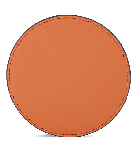 DIANE VON FURSTENBERG Circle leather coin pouch (Orange