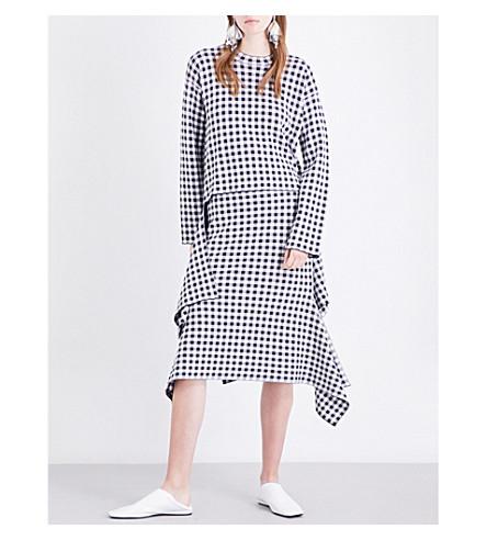 ROSETTA GETTY Gingham woven top (Navy/white