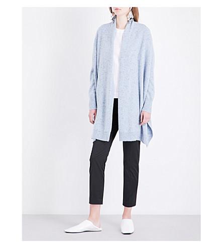ROSETTA GETTY Oversized cashmere cardigan (Sky+melange