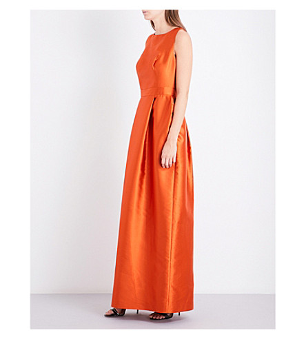 MERCHANT ARCHIVE Tulip satin gown (Orange