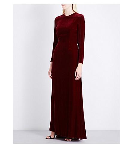 RACIL Somerset cutout velvet gown (Ruby+velvet