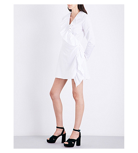 RACIL Cornwall cotton-poplin dress (White+poplin