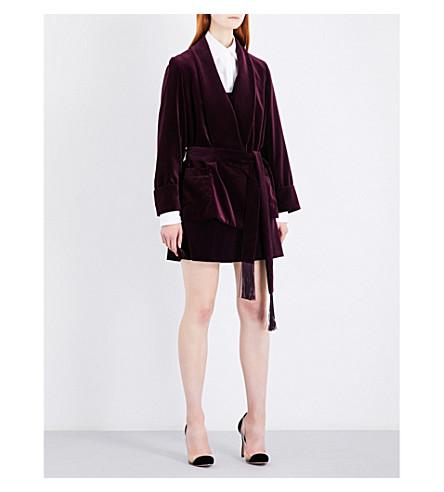 RACIL Derby velvet jacket (Aubergine+velvet