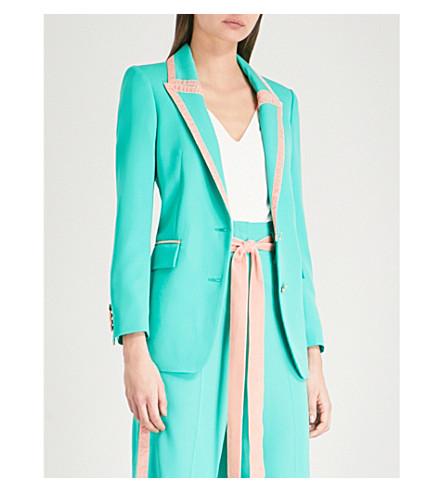 RACIL Okiya single-breasted wool jacket (Jade-peach+velvet