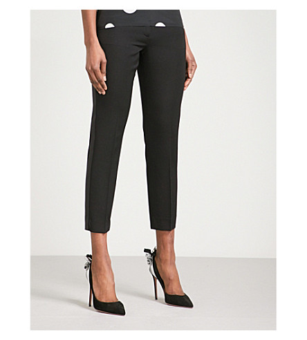 RACIL Aries skinny cropped wool trousers (Black