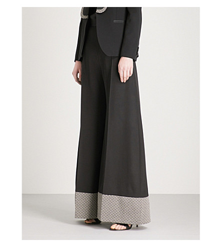 RACIL Mizuki wide-leg wool trousers (Black-wave
