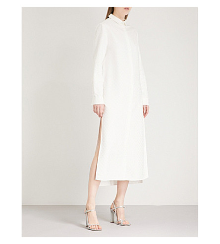 RACIL Tux Girlfriend jacquard shirt dress (Ivory+dots