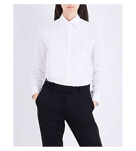 RACIL Tux Girlfriend cotton shirt (White+poplin