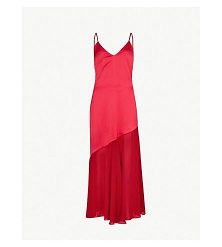 RACIL Zsazsa satin midi dress (Peony/poppy