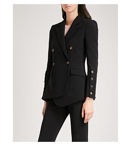 ALTUZARRA Button-detail double-breasted crepe blazer (Black