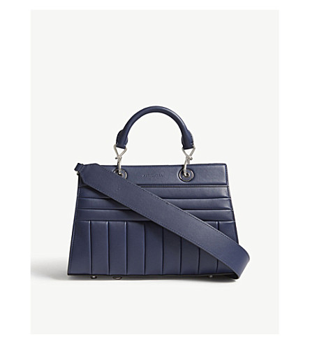 ALTUZARRA Shadow small quilted leather tote (Ocean+blue