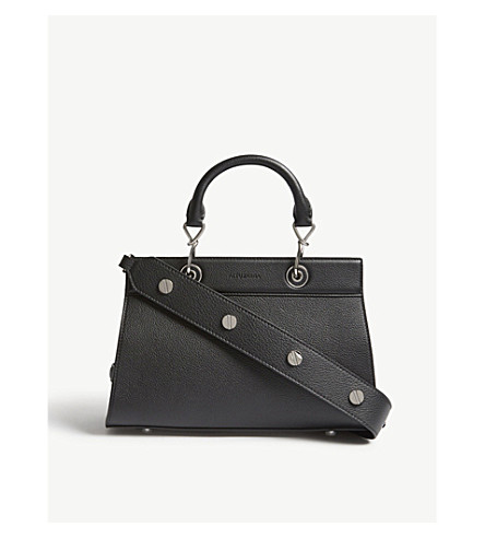 ALTUZARRA Shadow small grained leather tote (Black