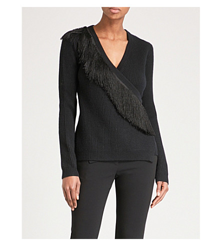 ALTUZARRA Daumier fringed-trim wool jumper (Black